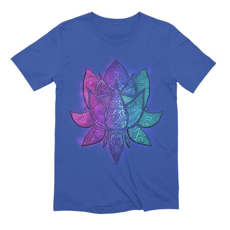 LOTUS Men's Extra Soft T-Shirt by greenlambart's Artist Shop