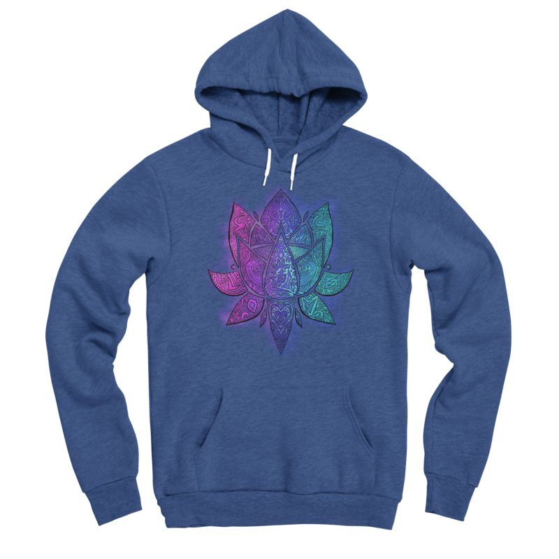 LOTUS Women's Sponge Fleece Pullover Hoody by greenlambart's Artist Shop