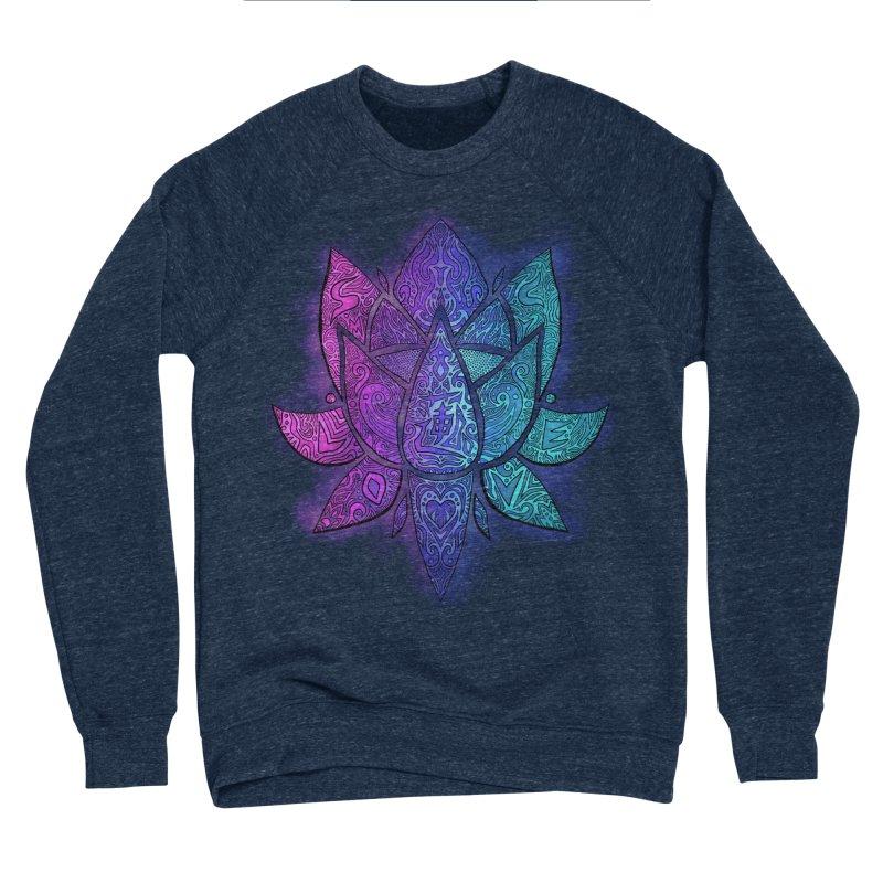 LOTUS Women's Sponge Fleece Sweatshirt by greenlambart's Artist Shop