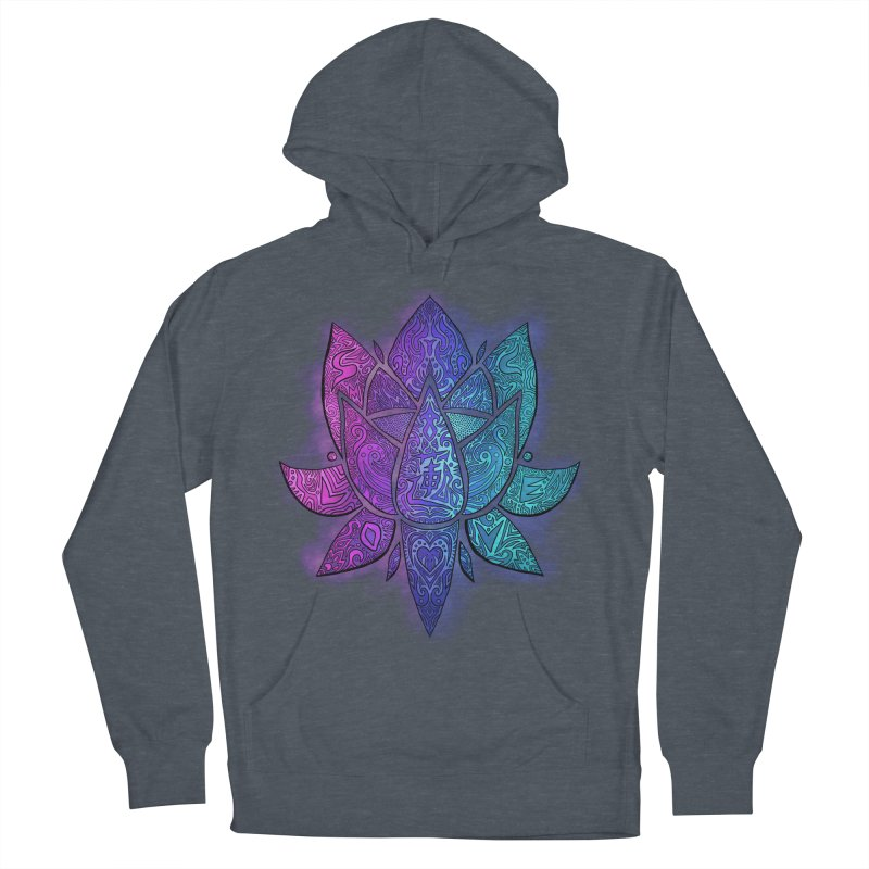 LOTUS Women's French Terry Pullover Hoody by greenlambart's Artist Shop