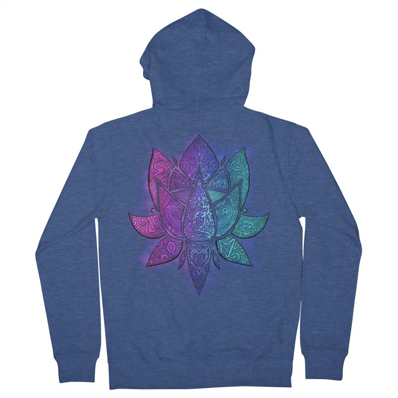 LOTUS Men's Zip-Up Hoody by greenlambart's Artist Shop