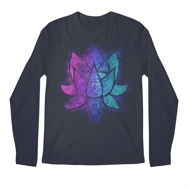 LOTUS Men's Regular Longsleeve T-Shirt by greenlambart's Artist Shop