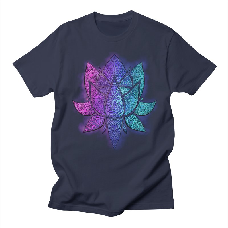 LOTUS Men's Regular T-Shirt by greenlambart's Artist Shop