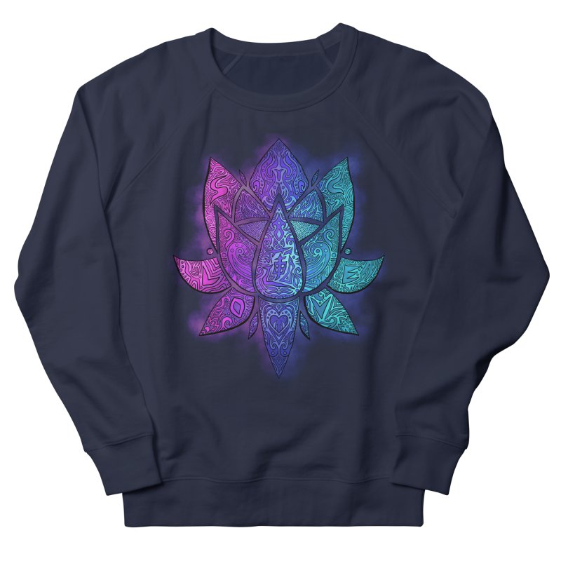 LOTUS Women's French Terry Sweatshirt by greenlambart's Artist Shop