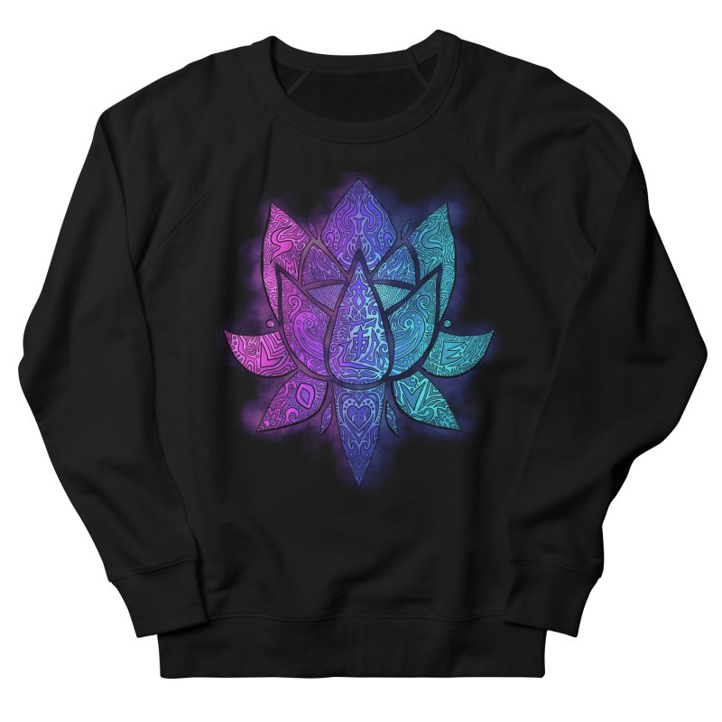 LOTUS Men's French Terry Sweatshirt by greenlambart's Artist Shop