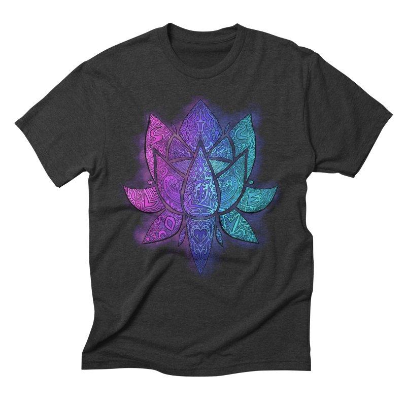LOTUS Men's Triblend T-Shirt by greenlambart's Artist Shop