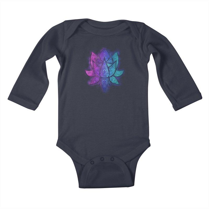 LOTUS Kids Baby Longsleeve Bodysuit by greenlambart's Artist Shop
