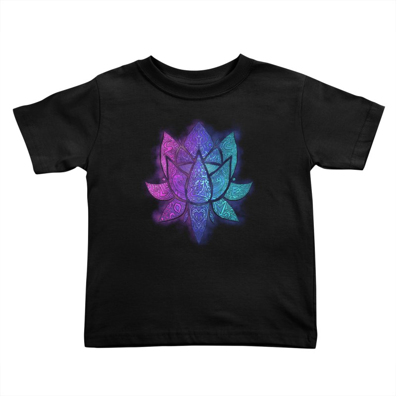 LOTUS Kids Toddler T-Shirt by greenlambart's Artist Shop