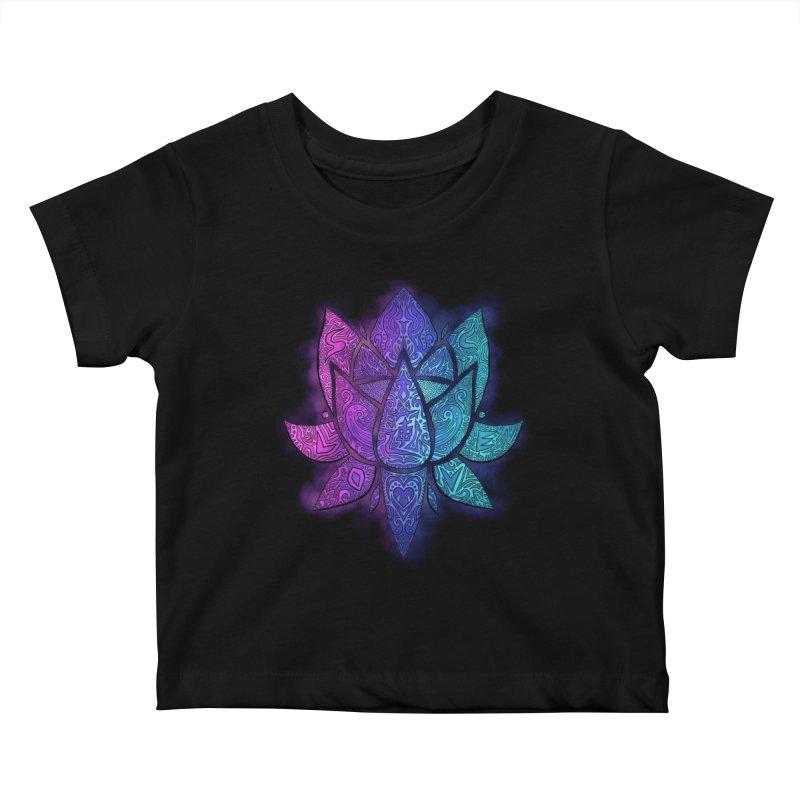 LOTUS Kids Baby T-Shirt by greenlambart's Artist Shop