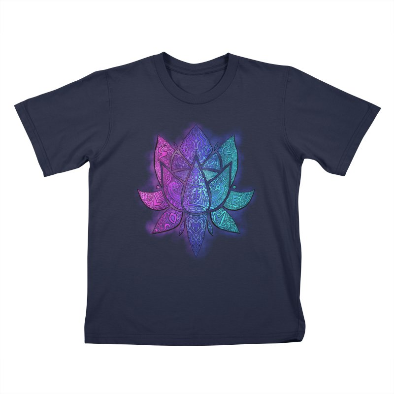 LOTUS Kids T-Shirt by greenlambart's Artist Shop