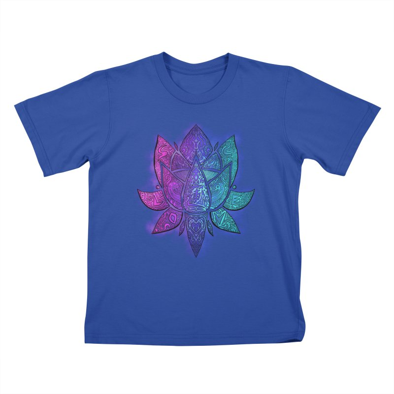 LOTUS Kids T-Shirt by greenlambart's Artist Shop