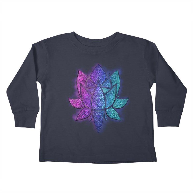 LOTUS Kids Toddler Longsleeve T-Shirt by greenlambart's Artist Shop