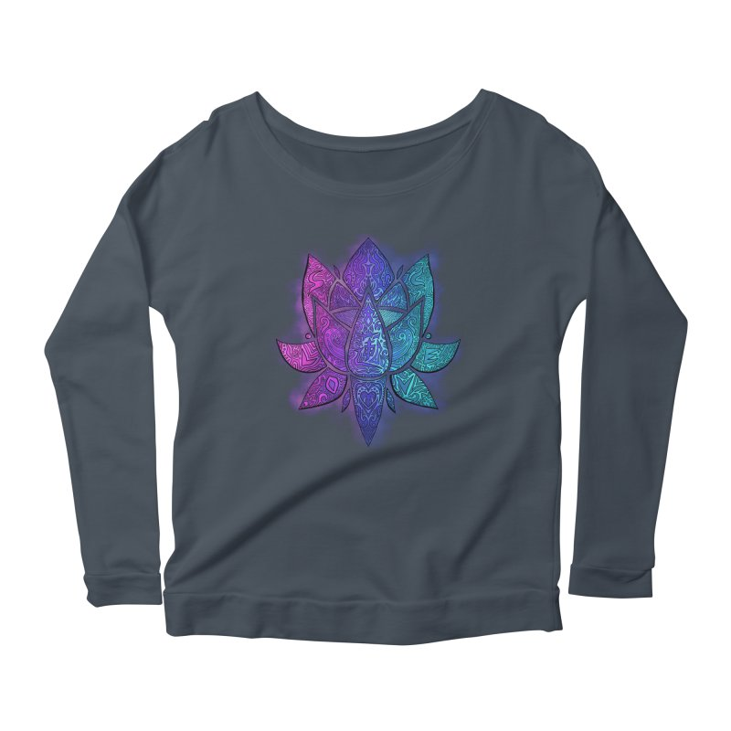 LOTUS Women's Scoop Neck Longsleeve T-Shirt by greenlambart's Artist Shop