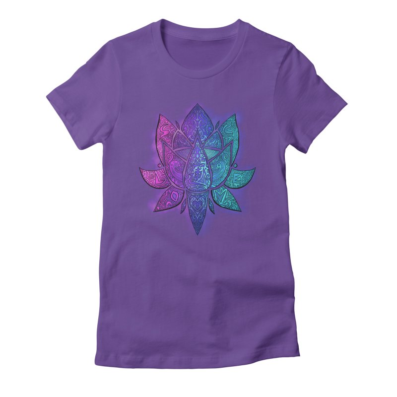 LOTUS Women's Fitted T-Shirt by greenlambart's Artist Shop