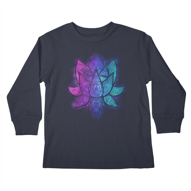 LOTUS Kids Longsleeve T-Shirt by greenlambart's Artist Shop