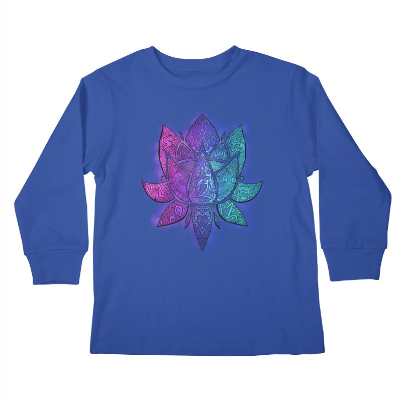 LOTUS Kids Longsleeve T-Shirt by greenlambart's Artist Shop