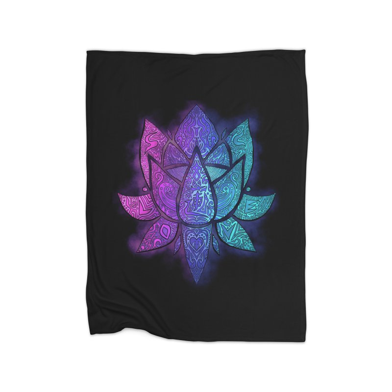 LOTUS Home Blanket by greenlambart's Artist Shop