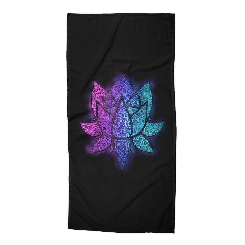 LOTUS Accessories Beach Towel by greenlambart's Artist Shop
