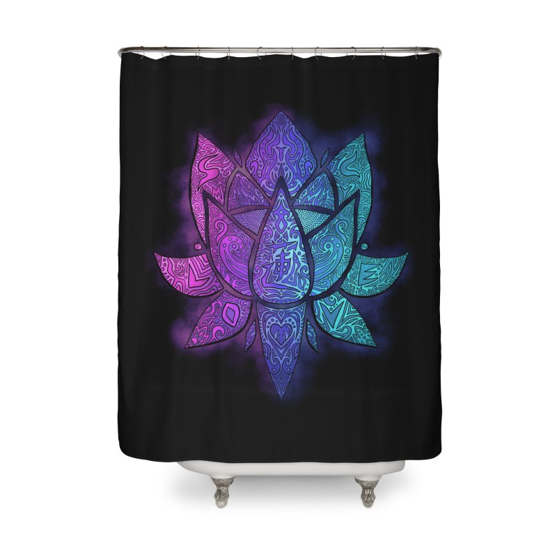 LOTUS Home Shower Curtain by greenlambart's Artist Shop