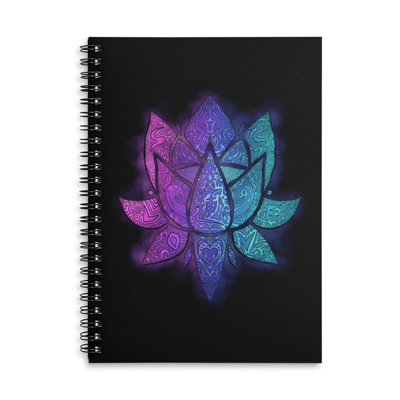 LOTUS Accessories Lined Spiral Notebook by greenlambart's Artist Shop