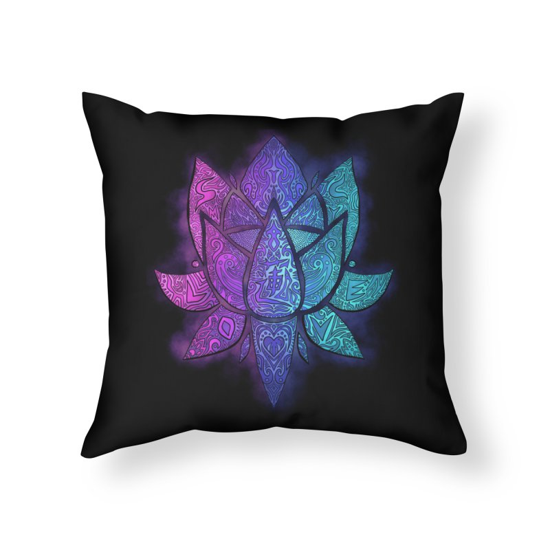 LOTUS Home Throw Pillow by greenlambart's Artist Shop