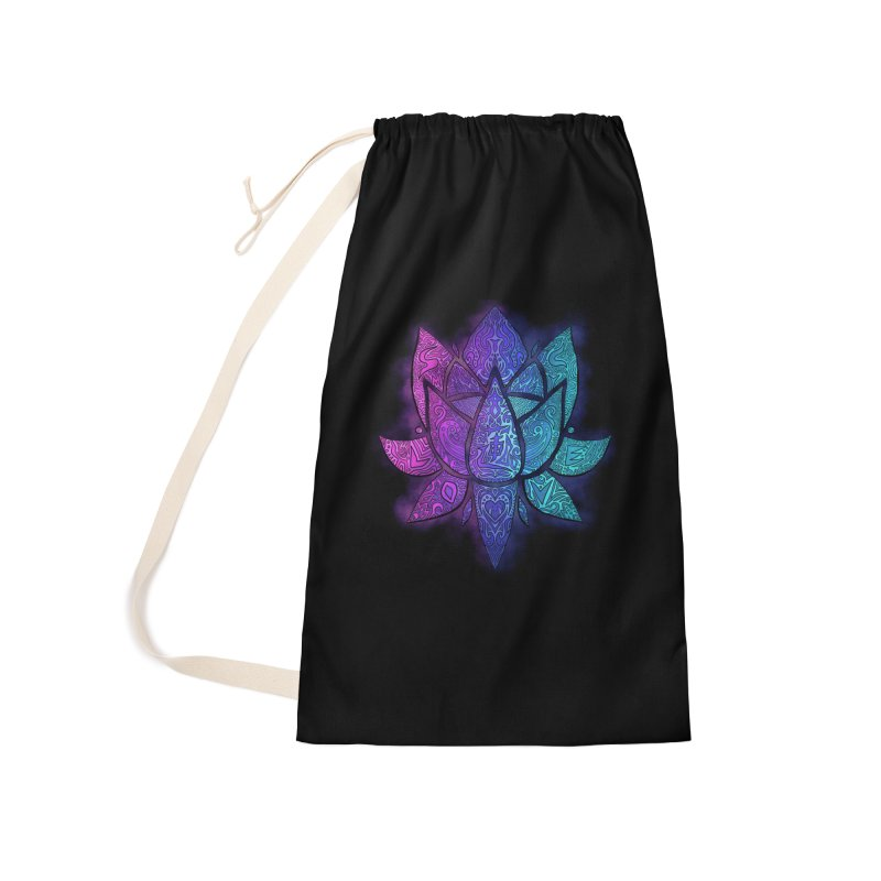 LOTUS Accessories Laundry Bag Bag by greenlambart's Artist Shop