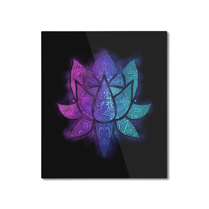 LOTUS Home Mounted Aluminum Print by greenlambart's Artist Shop
