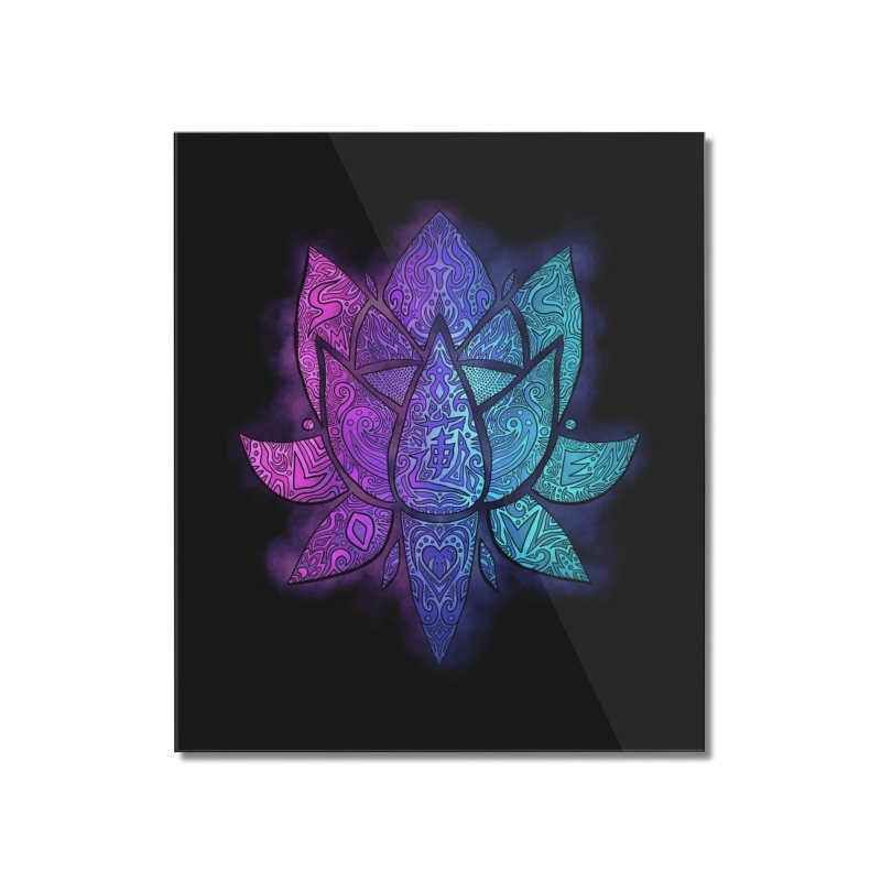 LOTUS Home Mounted Acrylic Print by greenlambart's Artist Shop