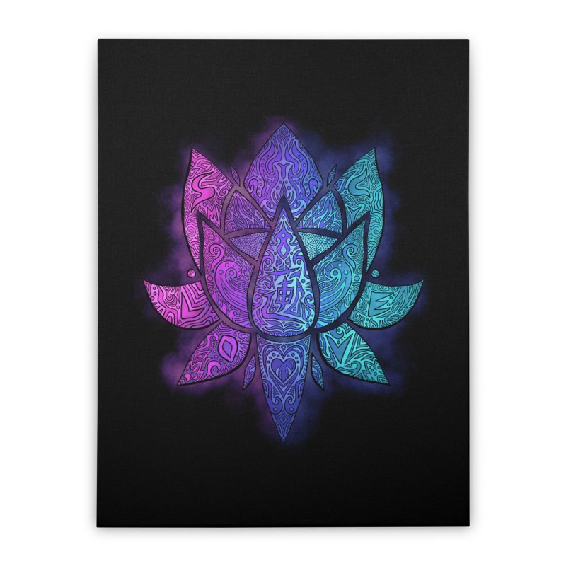 LOTUS Home Stretched Canvas by greenlambart's Artist Shop