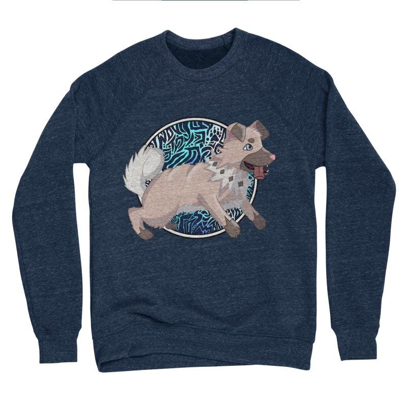 ROCK PUPPER Men's Sponge Fleece Sweatshirt by greenlambart's Artist Shop