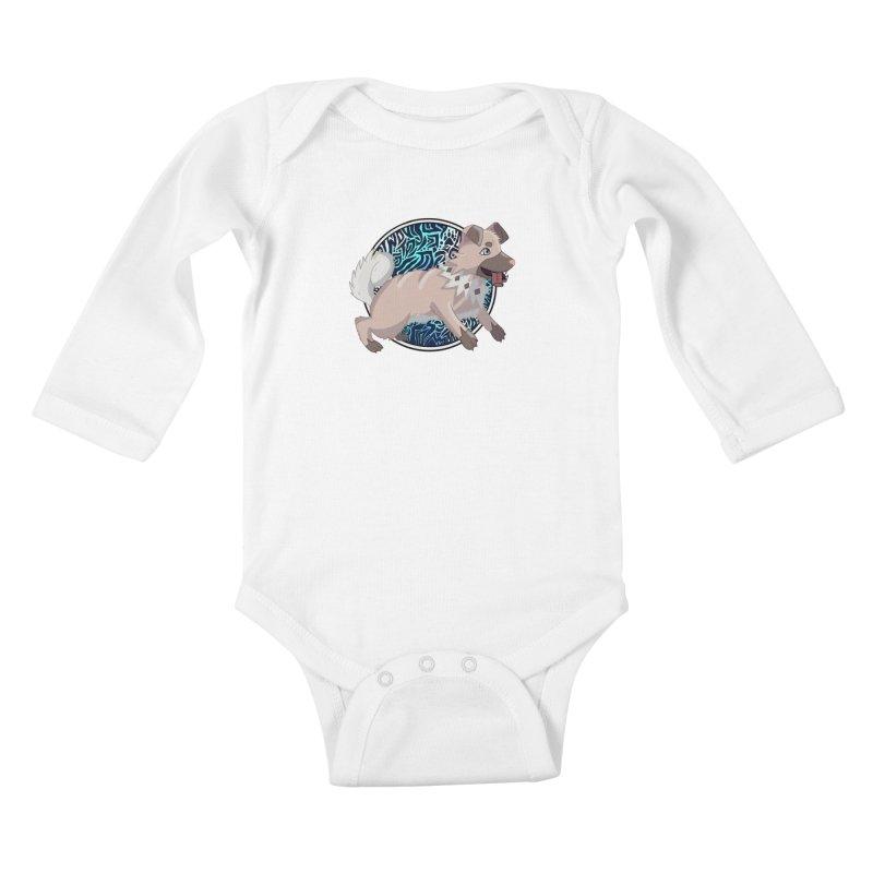 ROCK PUPPER Kids Baby Longsleeve Bodysuit by greenlambart's Artist Shop
