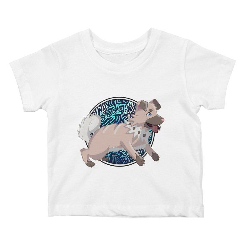 ROCK PUPPER Kids Baby T-Shirt by greenlambart's Artist Shop