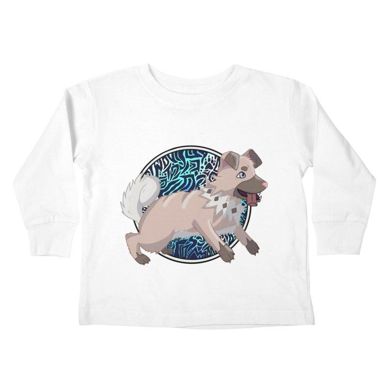 ROCK PUPPER Kids Toddler Longsleeve T-Shirt by greenlambart's Artist Shop