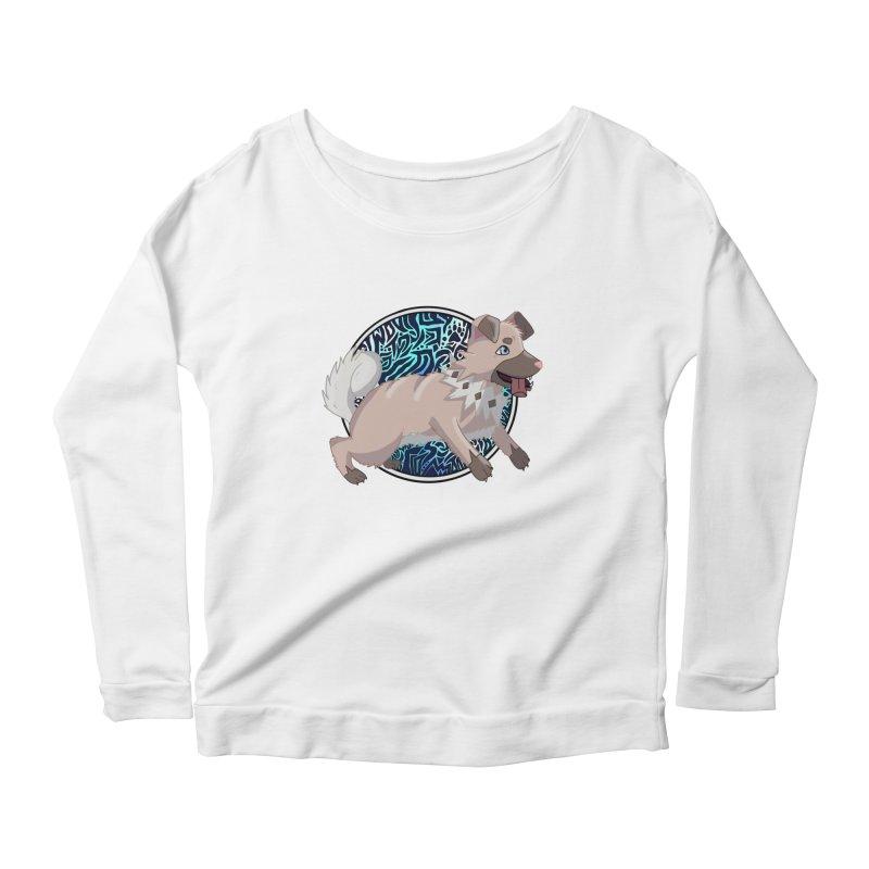ROCK PUPPER Women's Scoop Neck Longsleeve T-Shirt by greenlambart's Artist Shop