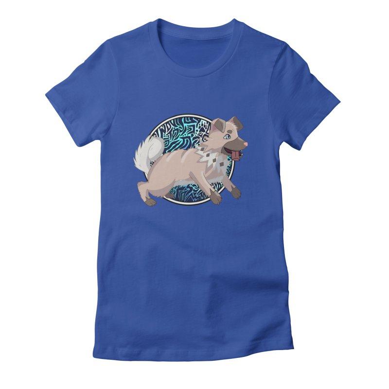 ROCK PUPPER Women's Fitted T-Shirt by greenlambart's Artist Shop