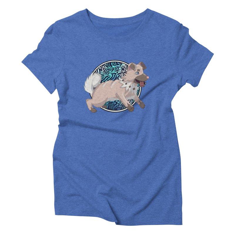ROCK PUPPER Women's Triblend T-Shirt by greenlambart's Artist Shop