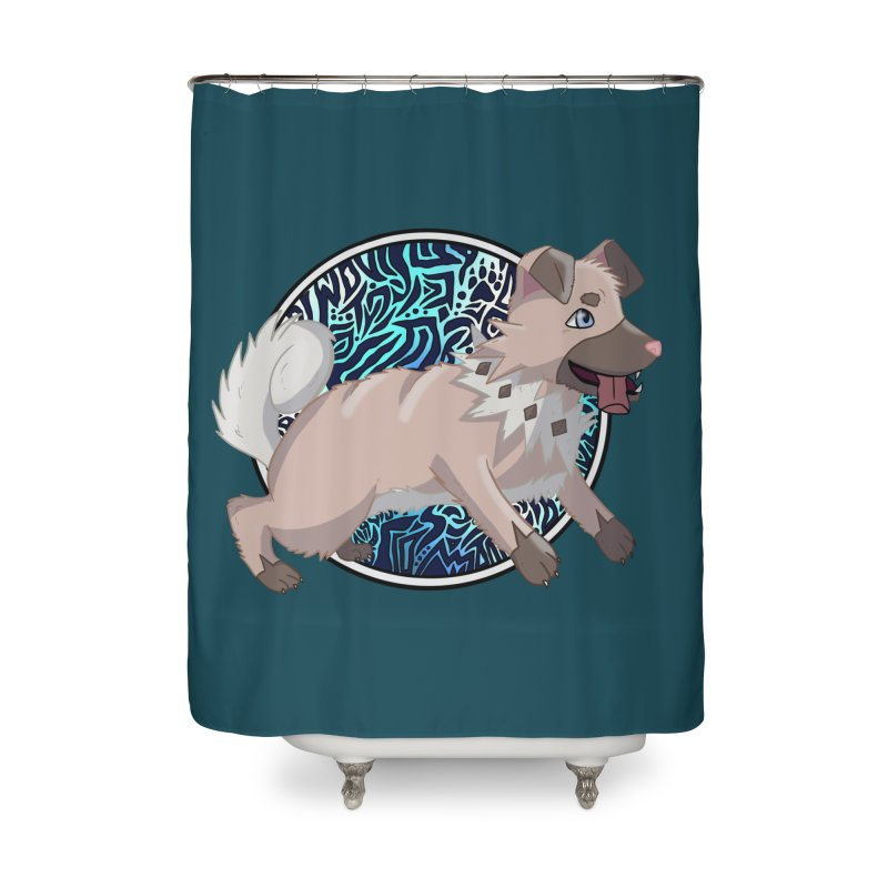 ROCK PUPPER Home Shower Curtain by greenlambart's Artist Shop