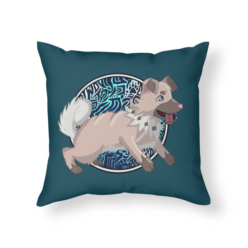 ROCK PUPPER Home Throw Pillow by greenlambart's Artist Shop