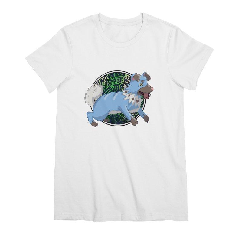 SHINY ROCK PUPPER Women's Premium T-Shirt by greenlambart's Artist Shop