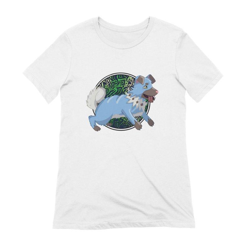 SHINY ROCK PUPPER Women's Extra Soft T-Shirt by greenlambart's Artist Shop