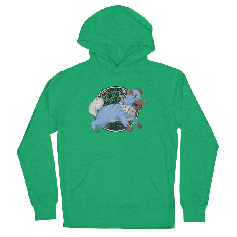 SHINY ROCK PUPPER Men's French Terry Pullover Hoody by greenlambart's Artist Shop