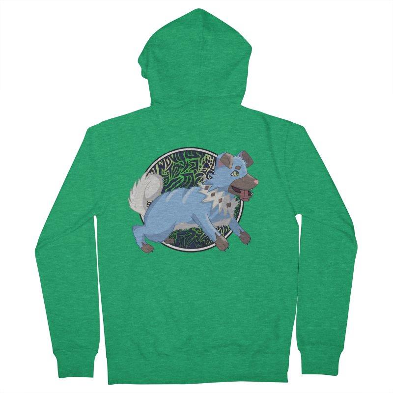SHINY ROCK PUPPER Men's Zip-Up Hoody by greenlambart's Artist Shop