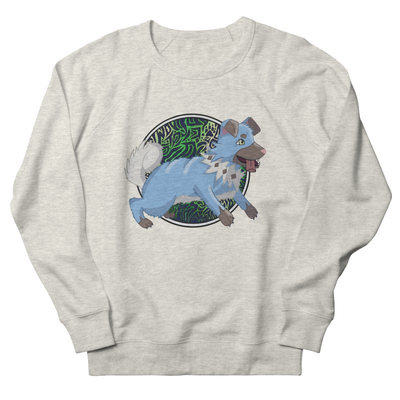 SHINY ROCK PUPPER Women's French Terry Sweatshirt by greenlambart's Artist Shop