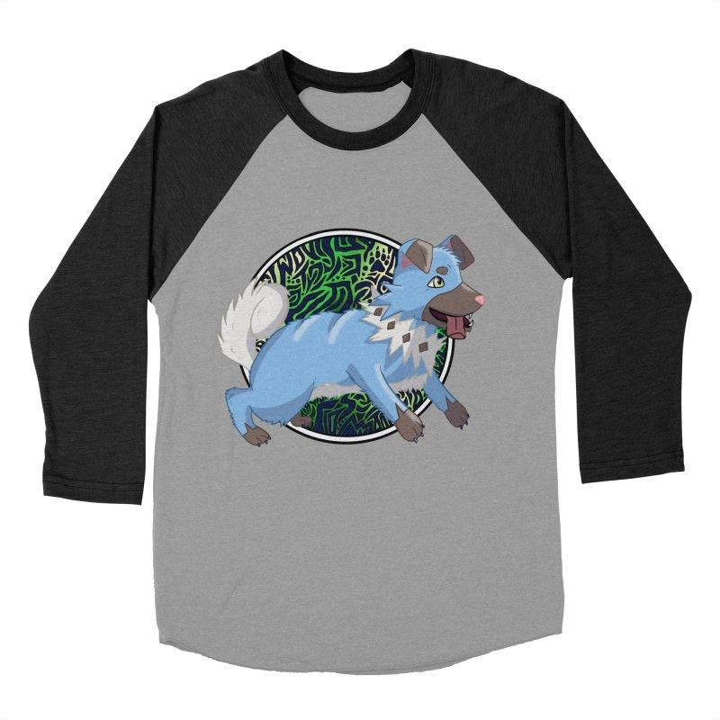 SHINY ROCK PUPPER Women's Baseball Triblend Longsleeve T-Shirt by greenlambart's Artist Shop
