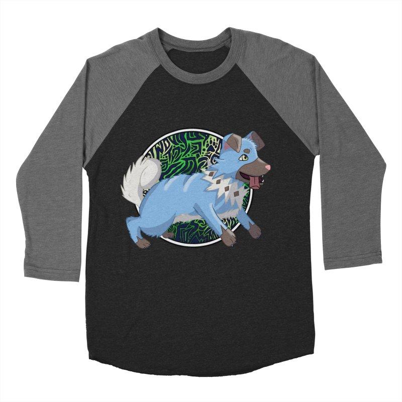 SHINY ROCK PUPPER Men's Baseball Triblend Longsleeve T-Shirt by greenlambart's Artist Shop