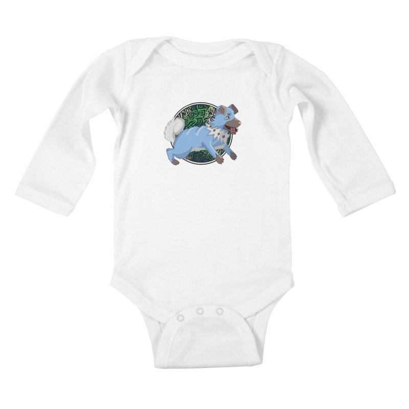 SHINY ROCK PUPPER Kids Baby Longsleeve Bodysuit by greenlambart's Artist Shop