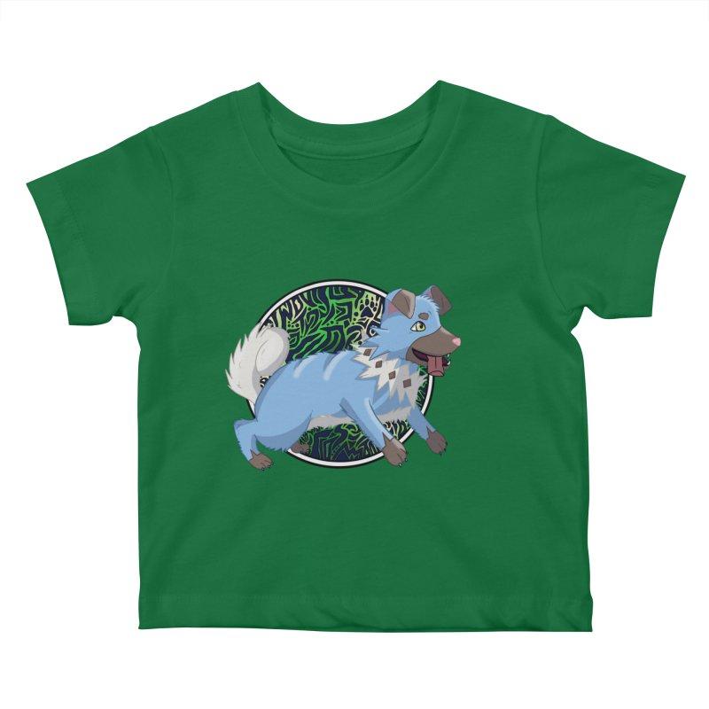 SHINY ROCK PUPPER Kids Baby T-Shirt by greenlambart's Artist Shop