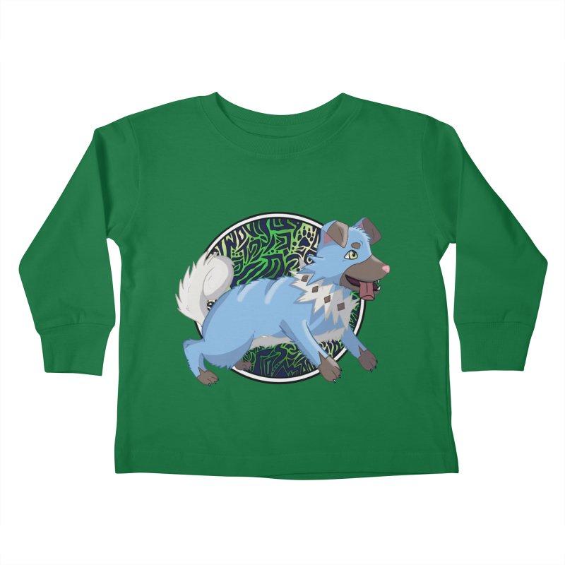 SHINY ROCK PUPPER Kids Toddler Longsleeve T-Shirt by greenlambart's Artist Shop