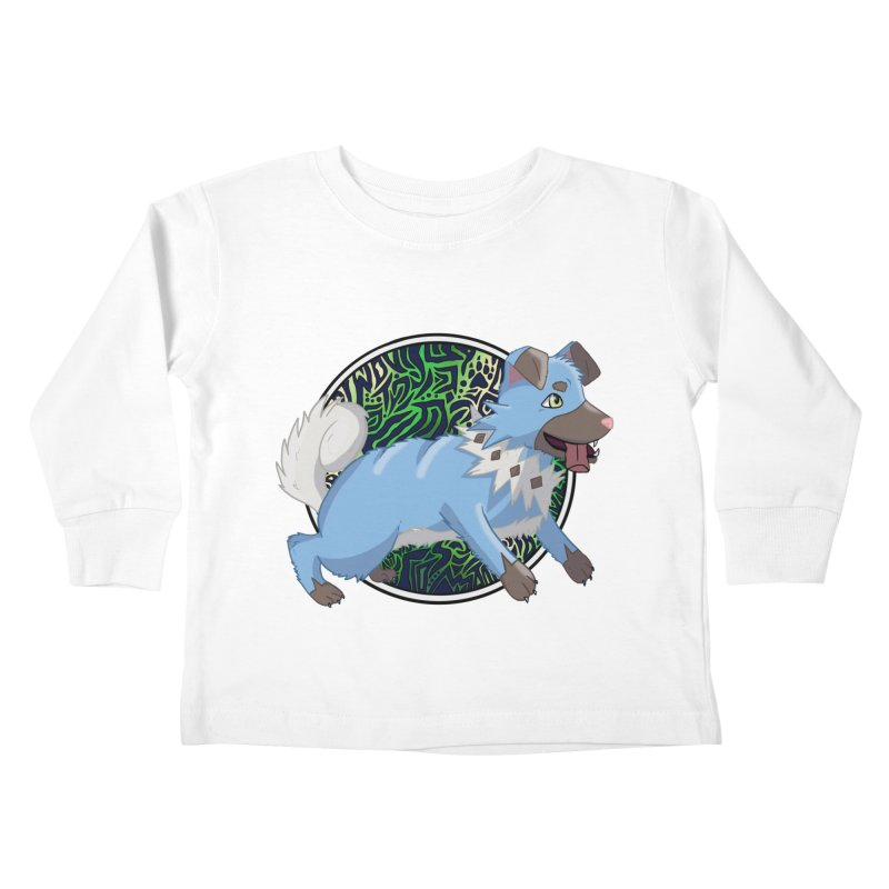 SHINY ROCK PUPPER Kids Toddler Longsleeve T-Shirt by greenlambart's Artist Shop