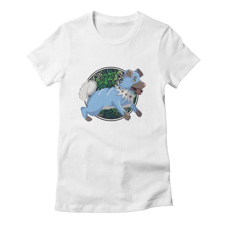 SHINY ROCK PUPPER Women's Fitted T-Shirt by greenlambart's Artist Shop